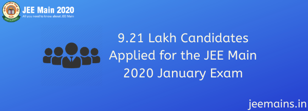9.21 Lakh Candidates Applied for the JEE Main 2020 January Exam