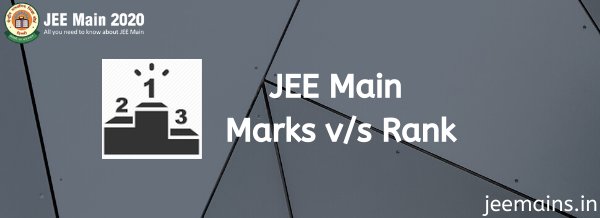 JEE Main Marks vs Rank