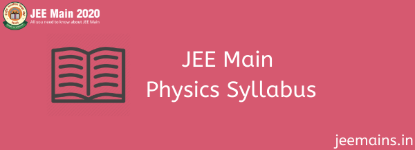 JEE Main Physics Syllabus
