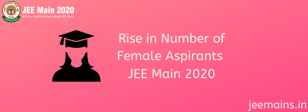 Rise in Number of Female Aspirants JEE Main 2020