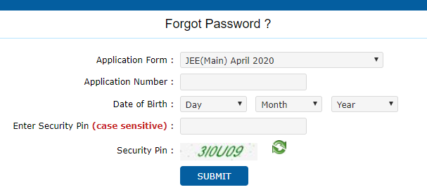 Forgot Password Details