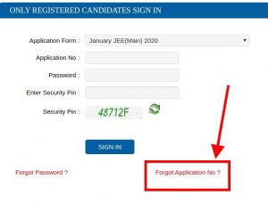 Admit Card Forgot Link