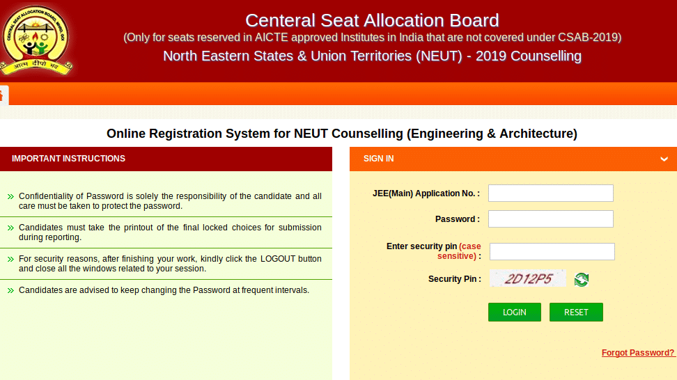 Registering for CSAB NEUT 2020 Counselling