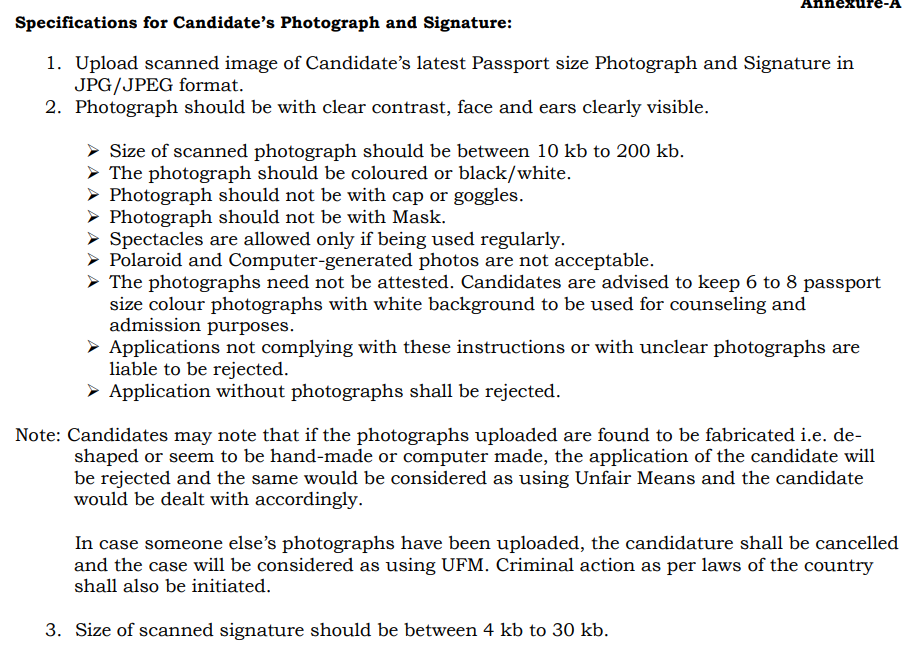 Images To Be Uploaded As Per Annexure-A
