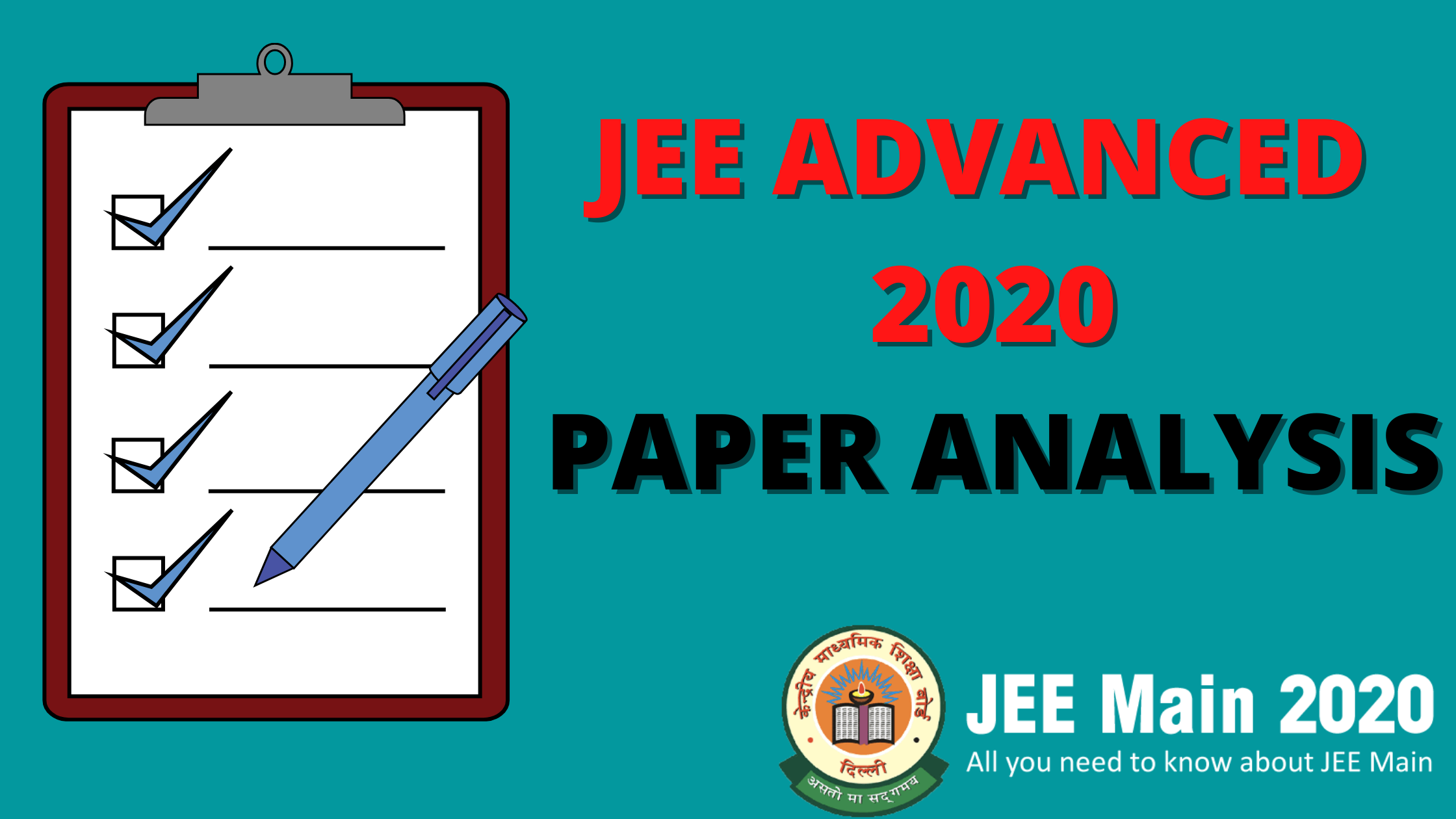 JEE ADVANCED 2020 Paper Analysis