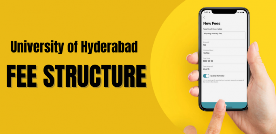 University of Hyderabad fee structure